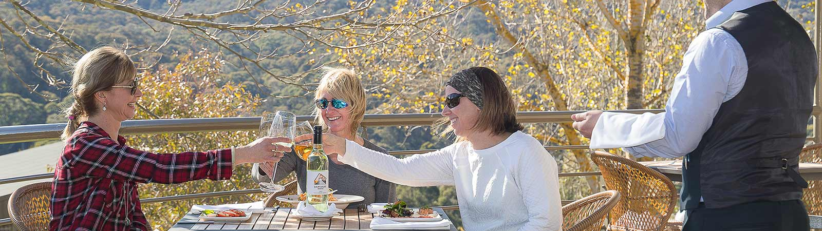 Enjoy a wine at The Sebel Pinnacle Valley Resort